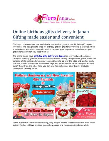 Online Birthday Gifts Delivery in Japan by Flora Japan - issuu