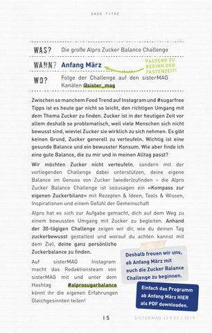 Page 15 of Die große Alpro Zucker Balance Challenge
