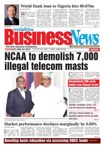 Westafrica BusinessNews Wednesday, April 24, 2019 by