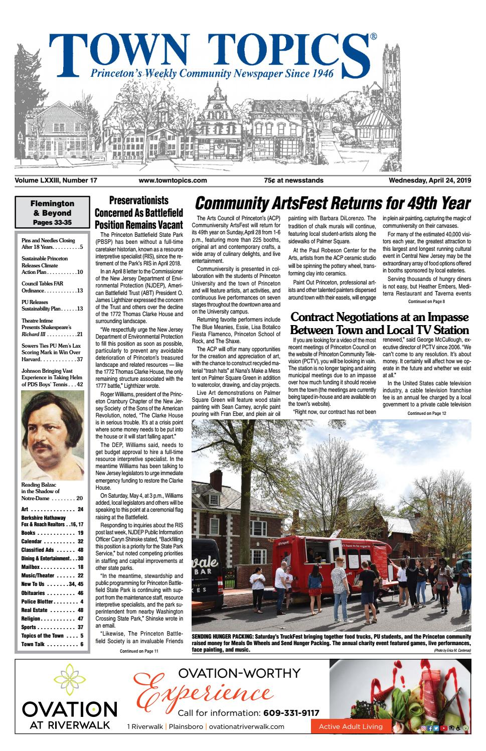 Town Topics Newspaper, April 24 by Witherspoon Media Group - issuu