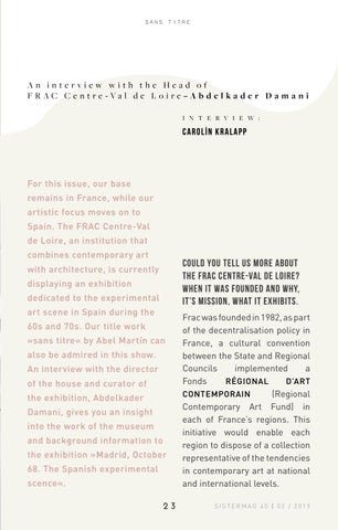 Page 23 of Interview with FRAC about experimental Art in Spain