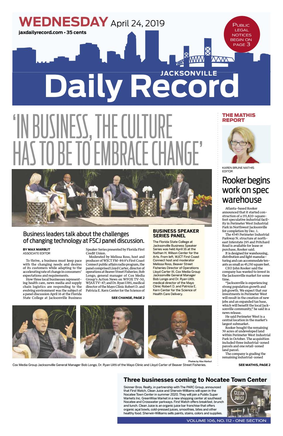 4209fba16f4ad Jacksonville Daily Record 4/24/19 by Daily Record & Observer LLC - issuu