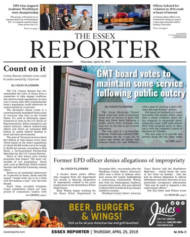 The Essex Reporter: April 25, 2019 by Essex Reporter - issuu