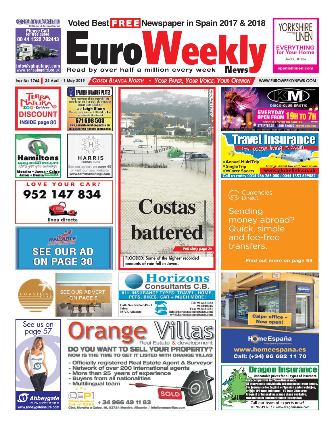 df3d8ce50e Euro Weekly News - Costa Blanca North 25 April - 1 May 2019 Issue 1764 by  Euro Weekly News Media S.A. - issuu