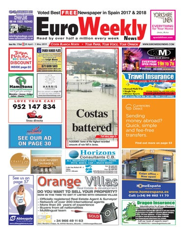fd8a69a0aea4d Euro Weekly News - Costa Blanca North 25 April - 1 May 2019 Issue ...