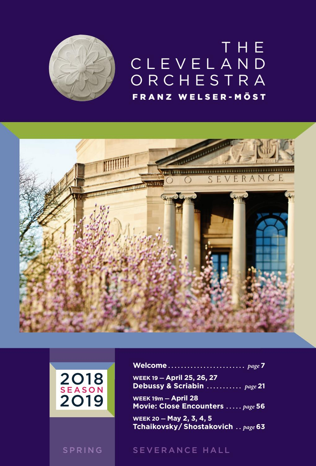 The Cleveland Orchestra April 25-28, May 2-5 Concerts by