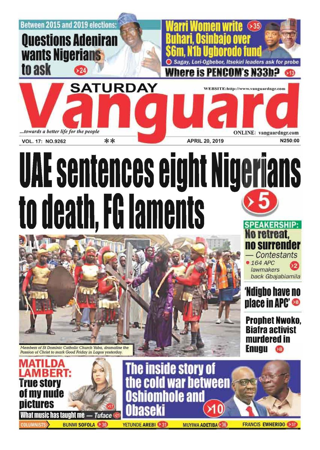 20042019 - UAE sentences eight Nigerians to death FG laments by
