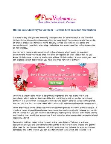 Pleasing Online Cake Delivery To Vietnam By Flora Vietnam Issuu Funny Birthday Cards Online Hetedamsfinfo