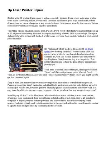Hp Laser Printer Repair by cotechmedia - issuu