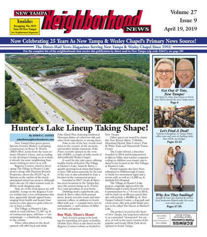 New Tampa Neighborhood News Volume 27 Issue 8 April 12 2019 By