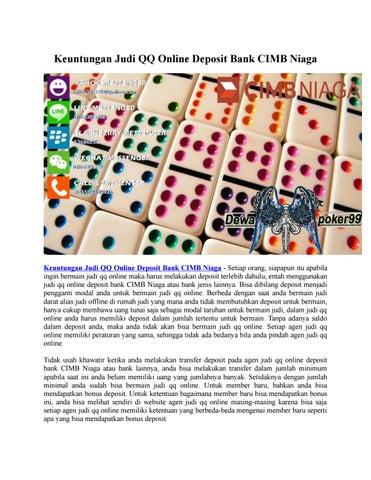 Keuntungan Judi Qq Online Deposit Bank Cimb Niaga Dewapoker99 By Poker Idnplay Issuu