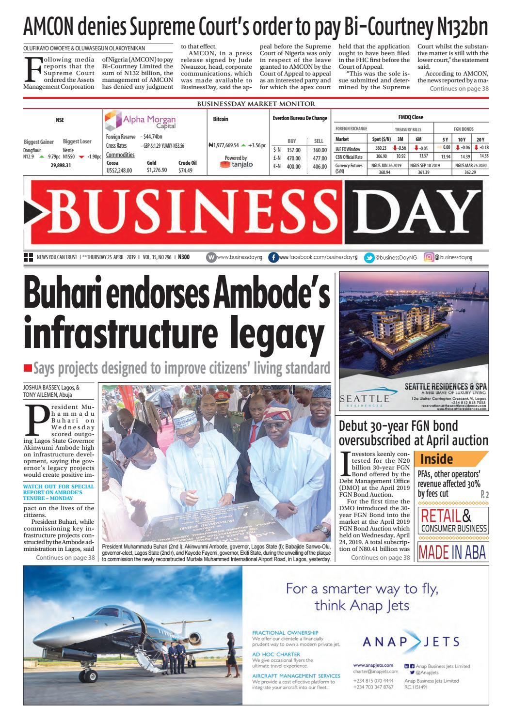 BusinessDay 25 Apr 2019 by BusinessDay - issuu