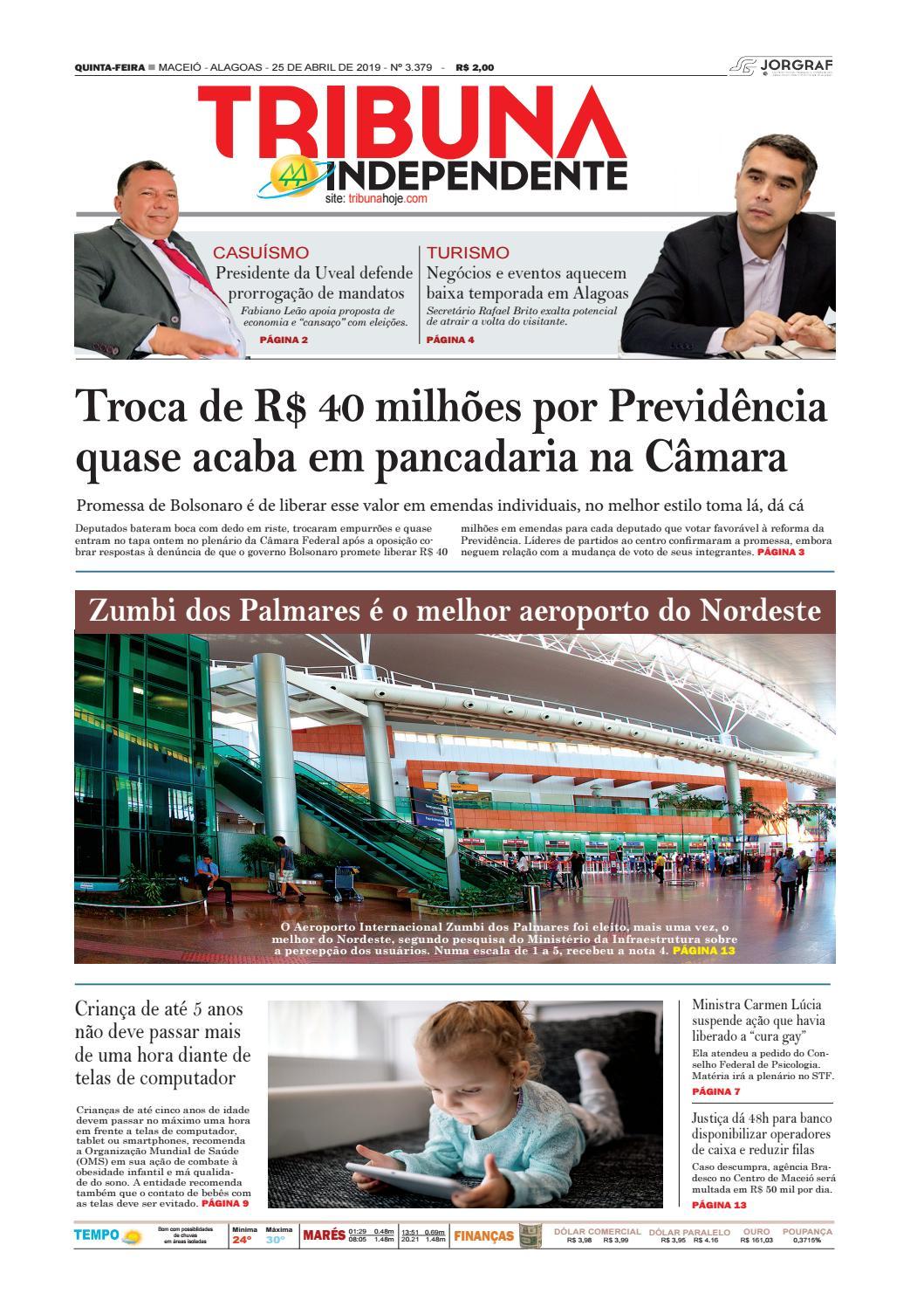 0806994d1 Edição número 3379 - 25 de abril de 2019 by Tribuna Hoje - issuu