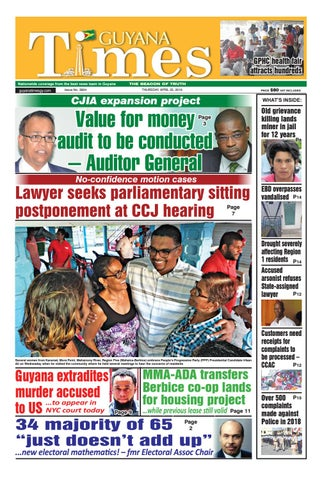 Guyana Times - Thursday, April 25, 2019 by Gytimes - issuu
