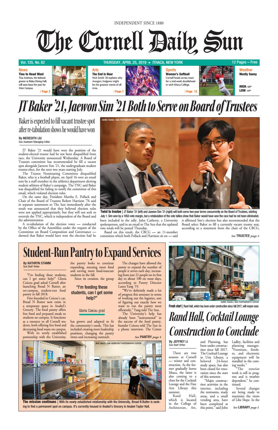 4-25-19 entire issue hi res by The Cornell Daily Sun - issuu