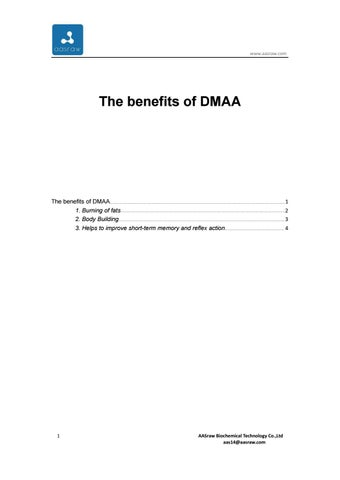 The benefits of DMAA by AAS--carol - issuu