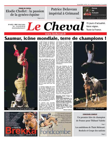 Journal Le Cheval n°312 du 26 avril 2019 by Etienne Robert