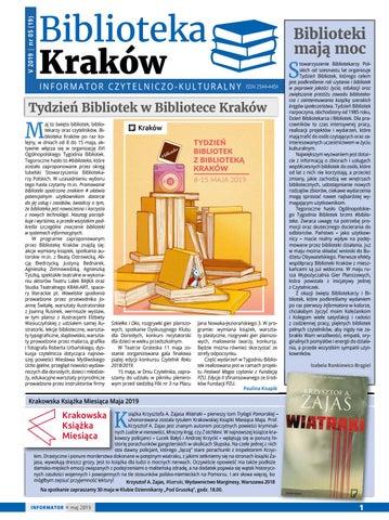 71954ddf689319 Biblioteka Kraków. Informator czytelniczo-kulturalny. Maj 2019 by ...