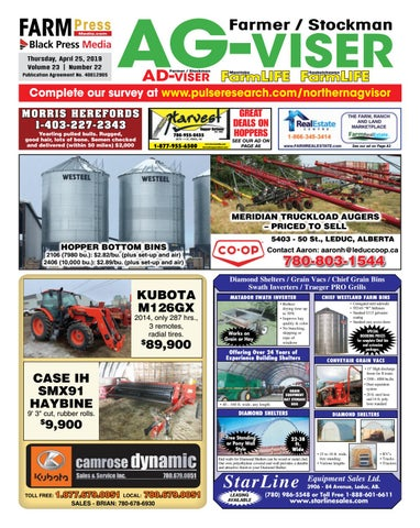 Northern Alberta Agvisor, April 25, 2019 by Black Press Media Group