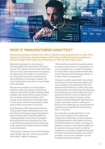 Page 23 of Manufacturing Analytics