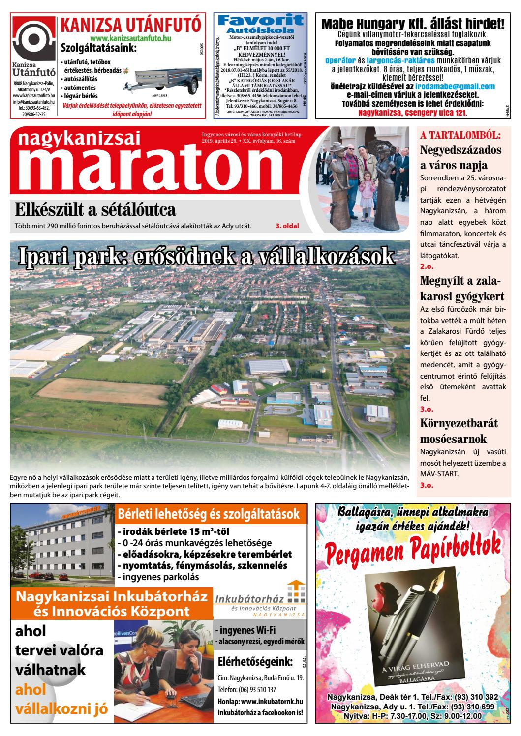 c8936346f4 Nagykanizsai Maraton - 2019. 04. 26. by Maraton Lapcsoport Kft. - issuu