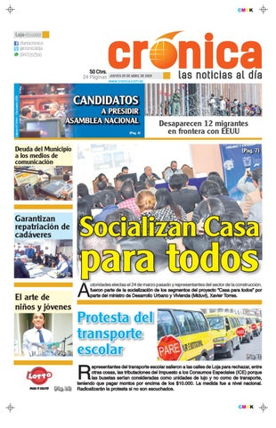 248e09e2c DIARIO CRONICA LOJA ECUADOR 25 DE ABRIL 2019 -JUEVES- 10444 by ...