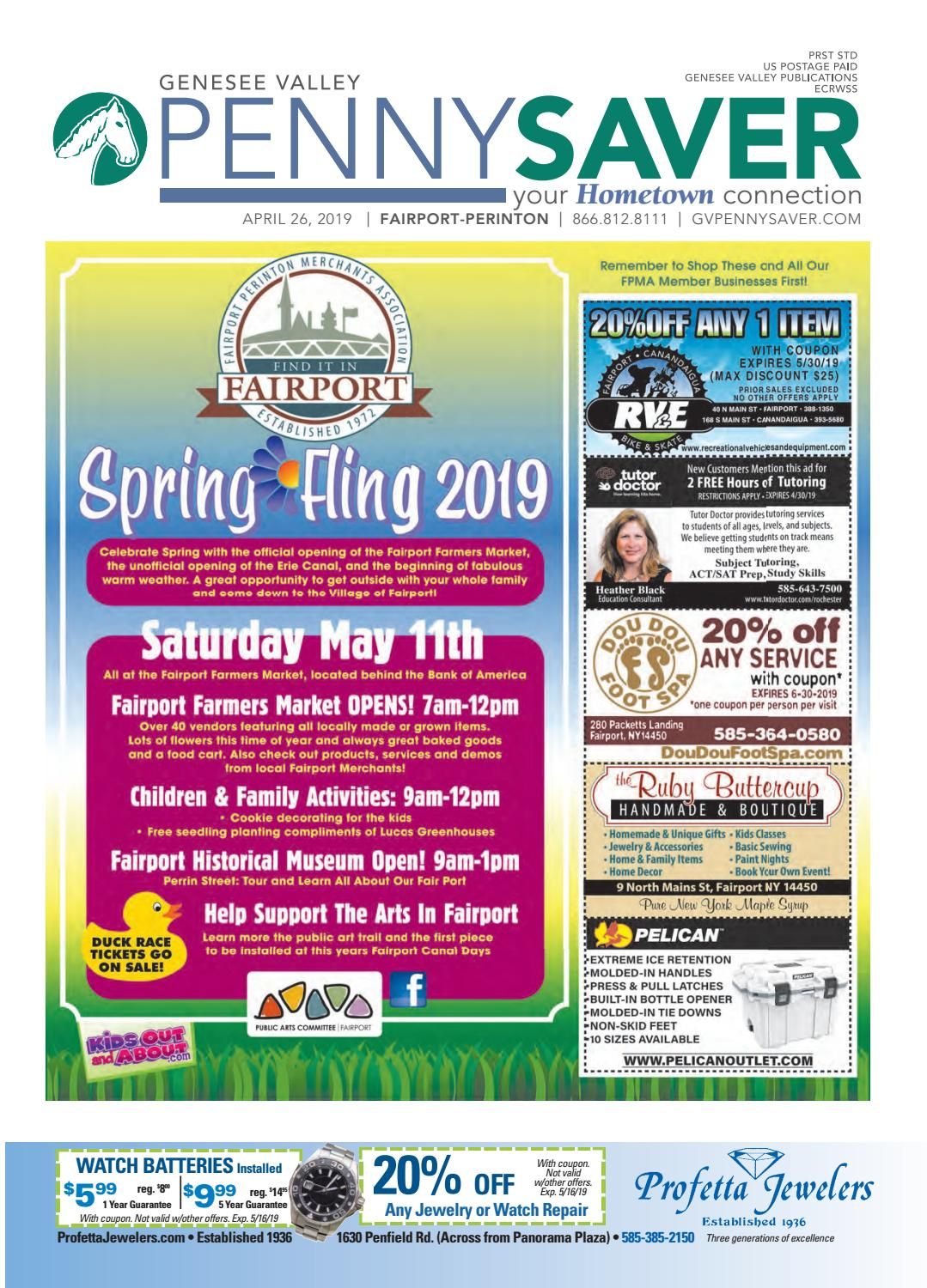 Fairport Perinton Edition Genesee Valley Penny Saver 4 26 2019 By Publications Issuu