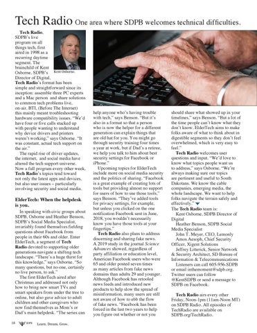 Page 18 of Tech Radio: One Area where SDPB Welcomes Technical Difficulties