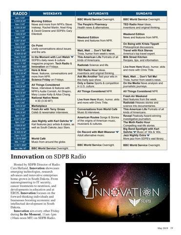 Page 19 of Innovation on SDPB Radio