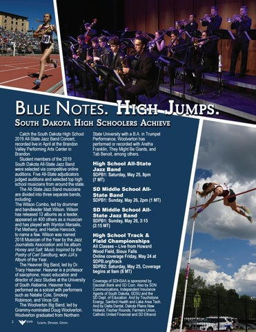 Page 2 of Blue Notes. High Jumps. South Dakota High Schoolers Achieve