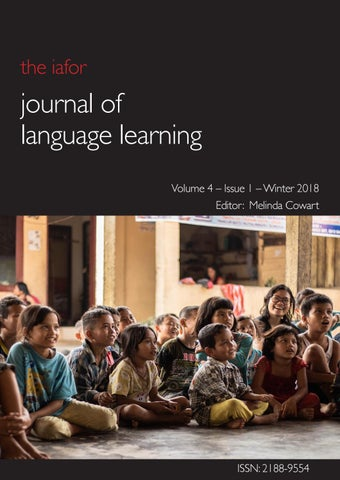 IAFOR Journal of Language Learning Volume 4 – Issue 1