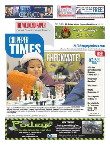 ab20f66e4 December 15th, 2016 -- Culpeper Times by InsideNoVa - issuu