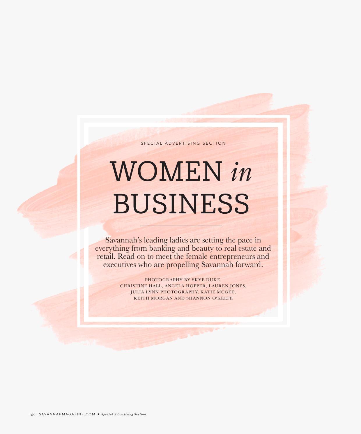 Women in Business 2019 by Savannah Magazine - issuu