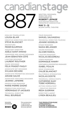 887 - Program (2019) by Canadian Stage - issuu