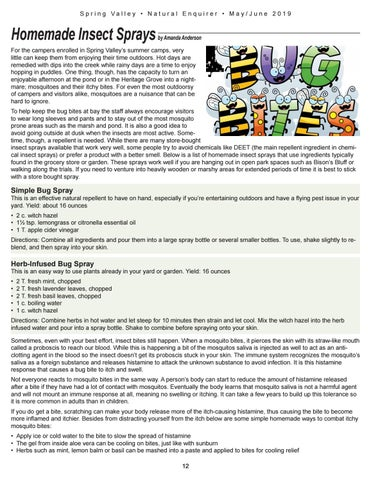 Page 12 of Homemade Insect Sprays