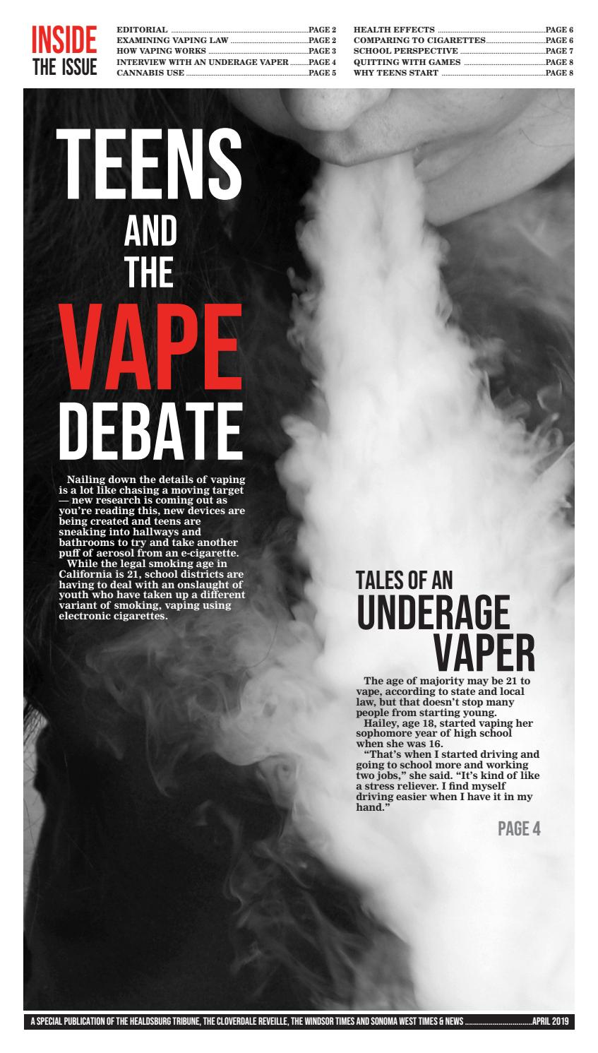 Teens and the Vape Debate 2019 by Sonoma West Publishers - issuu