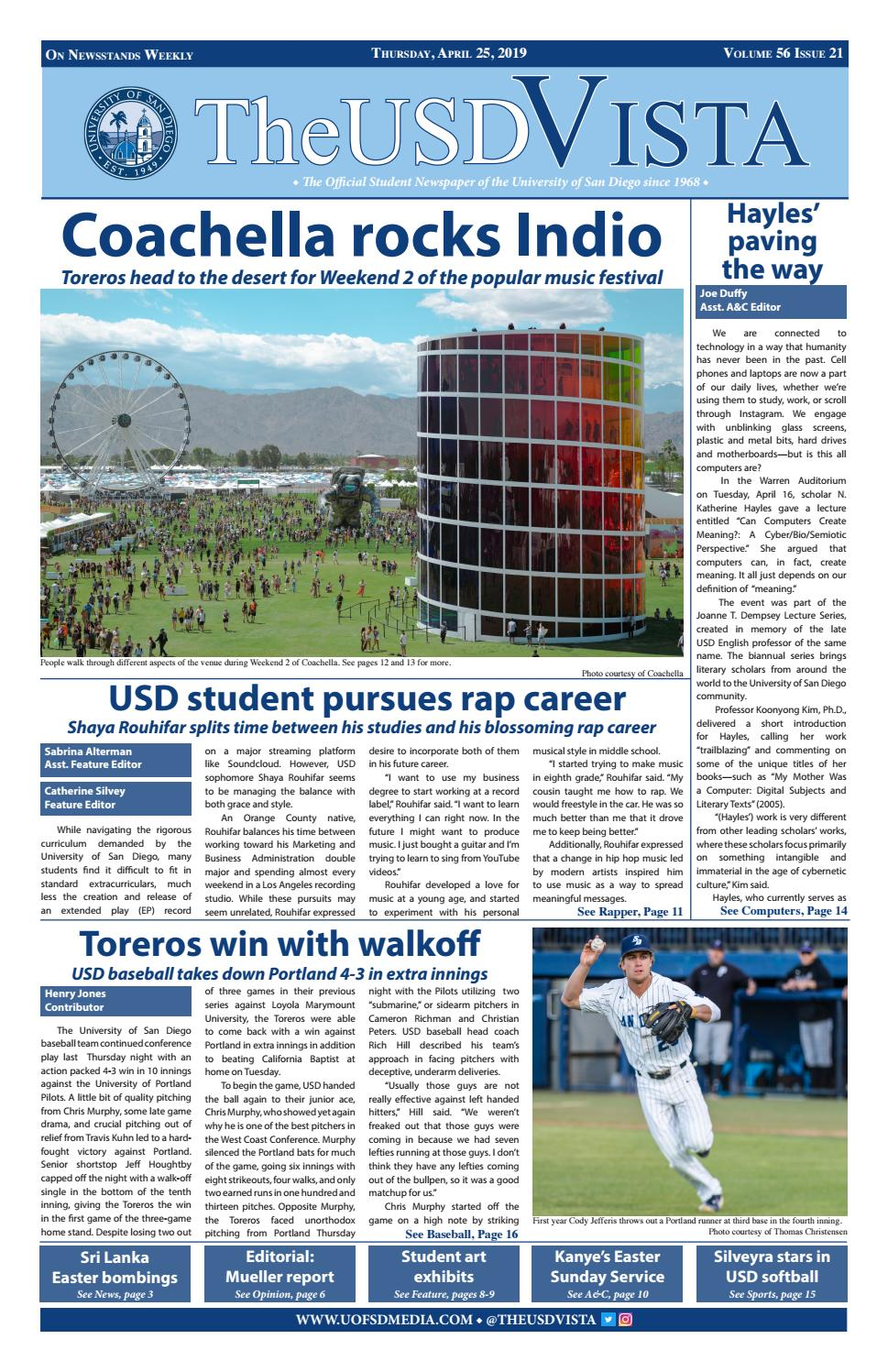 Volume 56, Issue 21 by The USD Vista - issuu