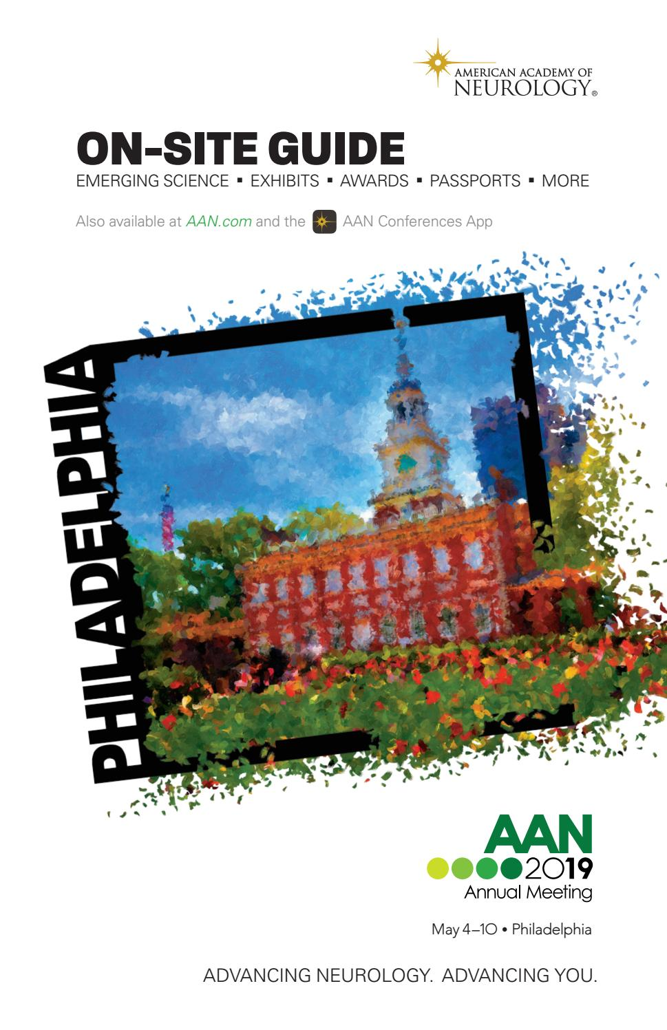 2019 AAN Annual Meeting On-site Guide by American Academy of