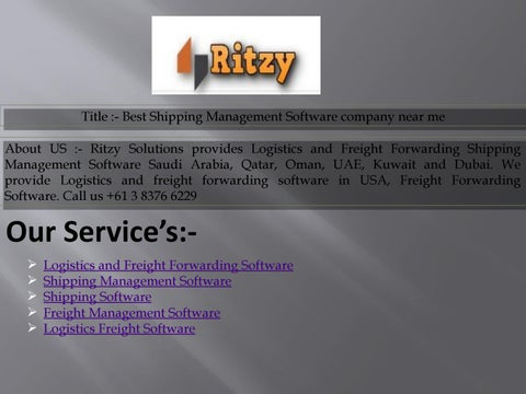 Best Shipping Management Software company near me by synamixsety7