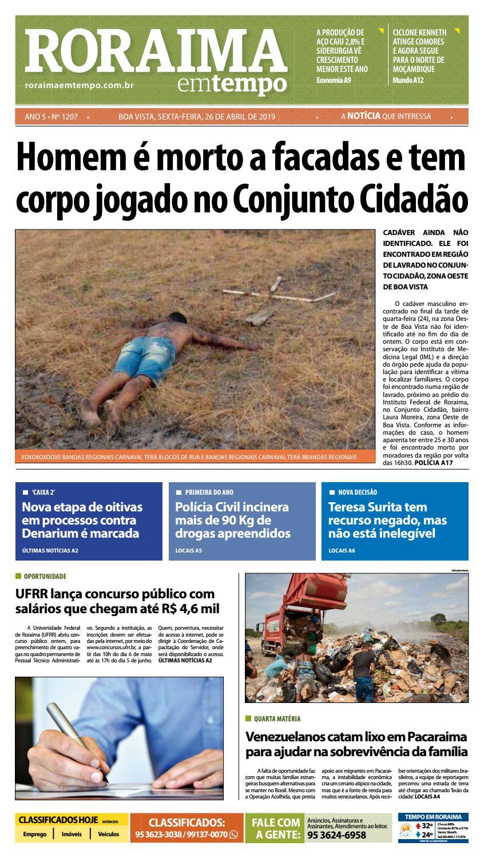 f127c4474 Jornal Roraima em tempo – edição 1207 by RoraimaEmTempo - issuu