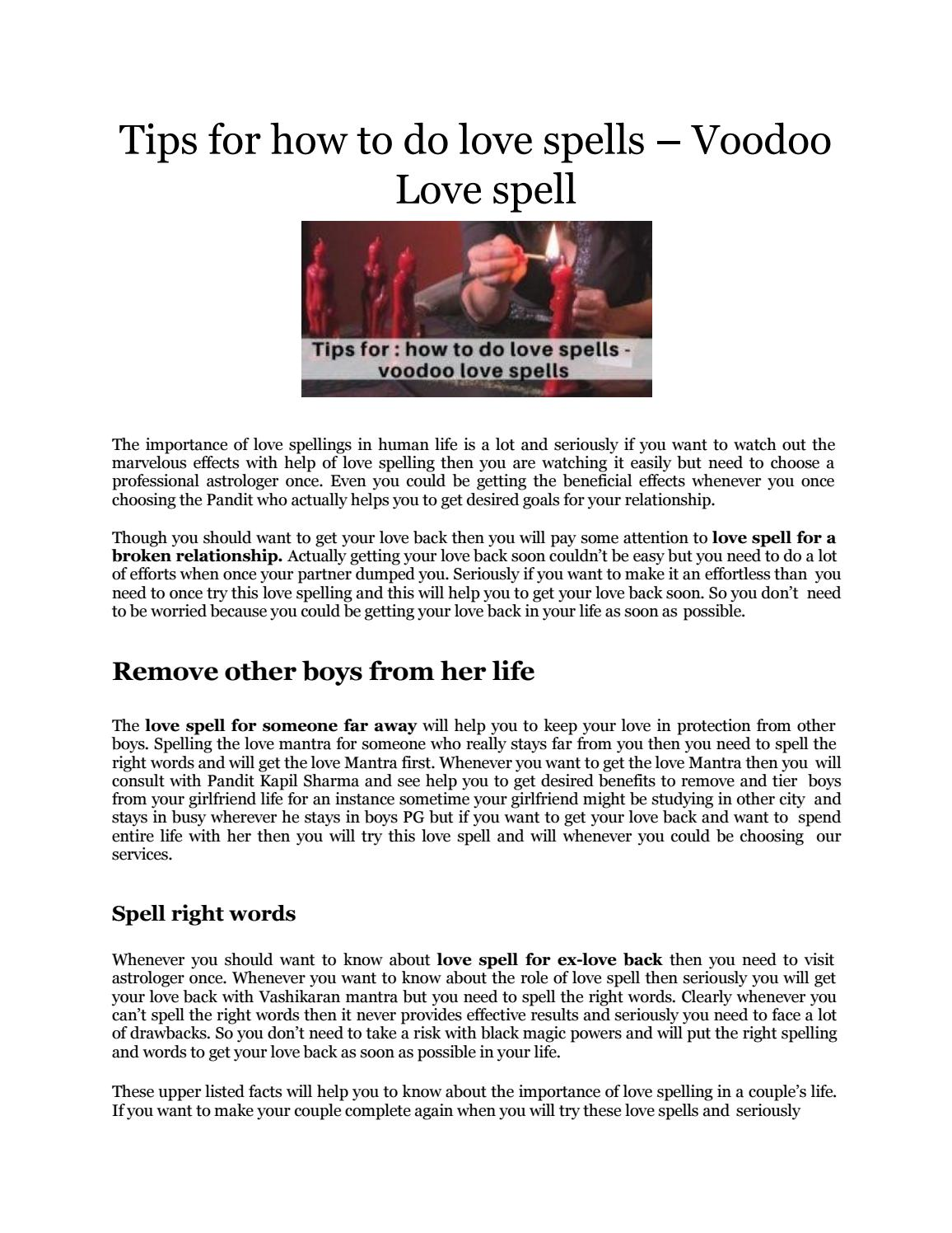 Tips for how to do love spells - voodoo love spells by kksharma - issuu