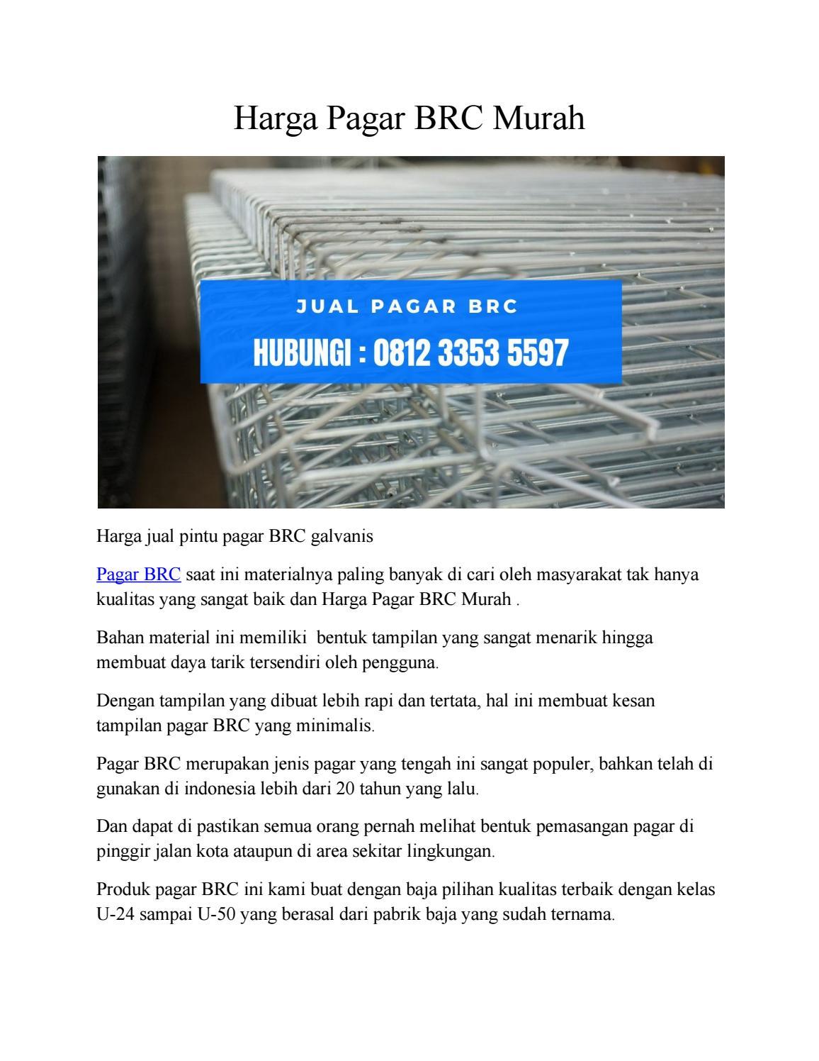 Harga Pagar Brc Murah Lumajang Hp 0812 3353 5597 By Pagarbrcsde