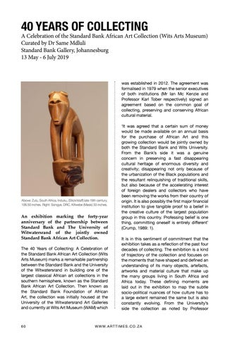 Page 60 of 40 Years of Collecting Standard Bank African Art Collection