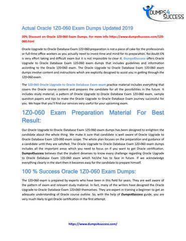 Oracle 1Z0-060 Exam Dumps - Free PDF Demo by r ona ldoalbert299 - issuu