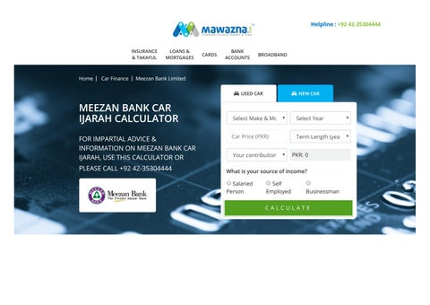 Meezan Bank Car Finance By Mawazna Issuu