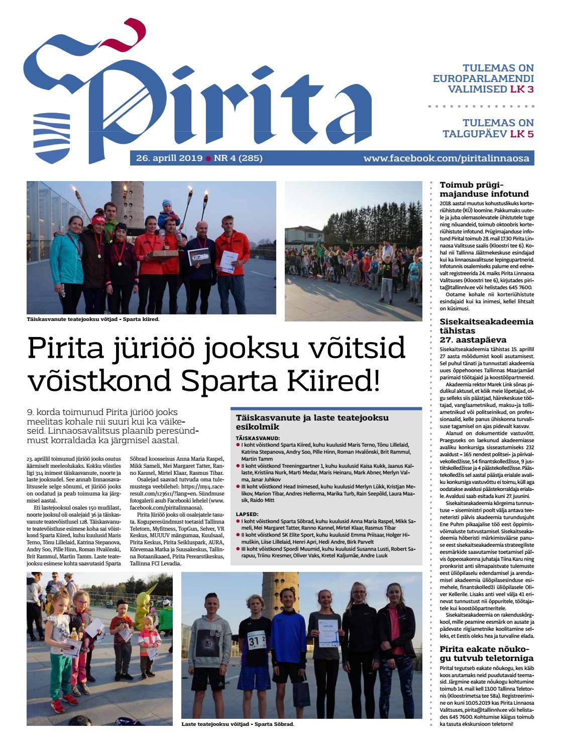 9b280055e1a Pirita ajaleht 26. aprill 2019 by Piritalinnaosavalitsus - issuu