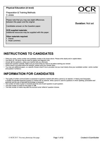 H555-01 Preparation & Training Methods