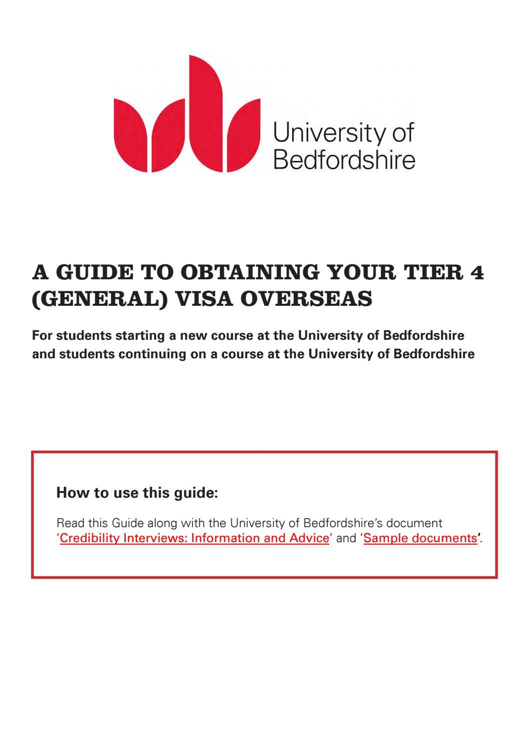 New visa guide by University of Bedfordshire - issuu