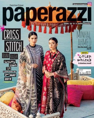 f0ff298164 Pakistan Today Paperazzi Issue 295 April 28, 2019 Cover - Cross Stitch+Warda