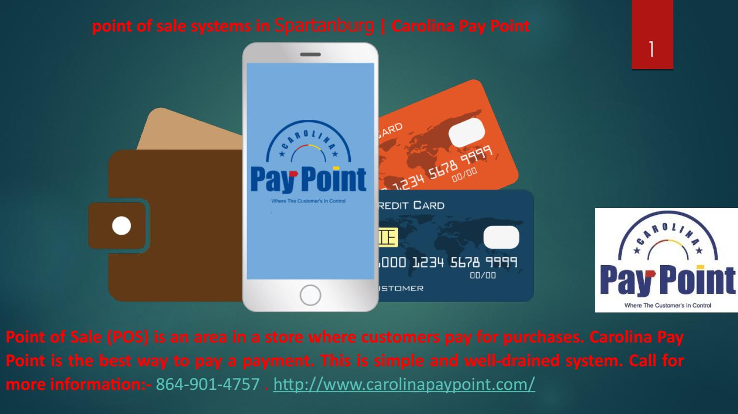 point of sale systems in Spartanburg | Carolina Pay Point by